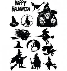 halloween figures vector image