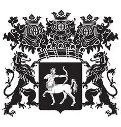 Heraldic silhouette no41 vector