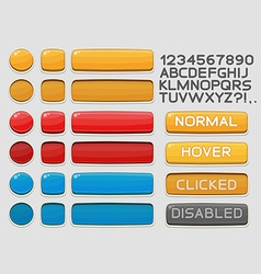 Interface buttons set for games or apps 1 vector image vector image