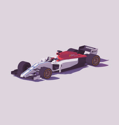 low poly formula racing car vector image vector image