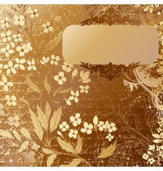 Luxury grunge golden background with handdrawn vector image vector image