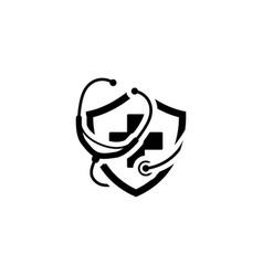 Medical insurance icon flat design vector