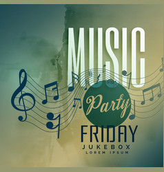 music party festival event poster design vector image