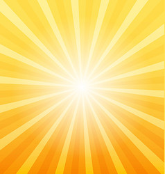 Orange sunray background vector