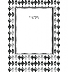 plaid pattern and frame vector image