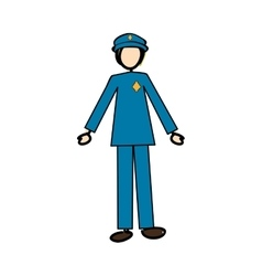 Police officer icon image vector