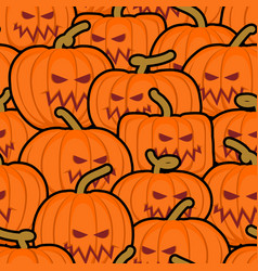 Pumpkin seamless pattern halloween background vector