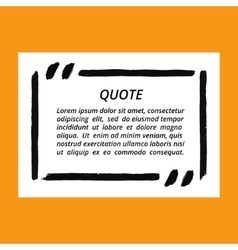 Quote blank frame template vector
