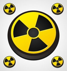 radiation round sign vector image vector image