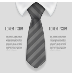 Realistic shirt and tie business bacground 3d vector image