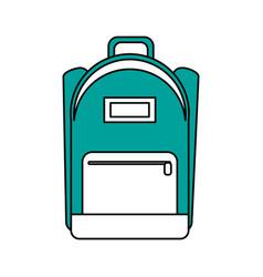 school backpack icon image vector image