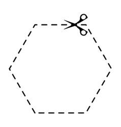 Scissors cut school supply icon vector