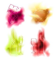 set of wine vector image vector image