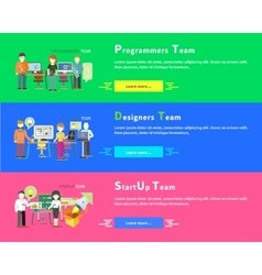 Startup Team Programmers Designers People Group vector image vector image