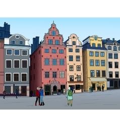 Stortorget in stockholm vector