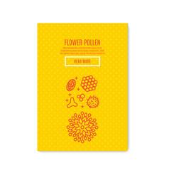 Sunny pollen banner honey product vector