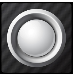 White shaded plastic button template vector image vector image