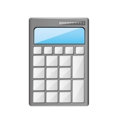 silhouette calculator with display and buttons vector image