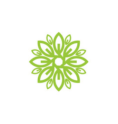 flower leaf logo vector image