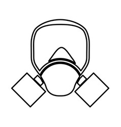 gas mask black color icon vector image