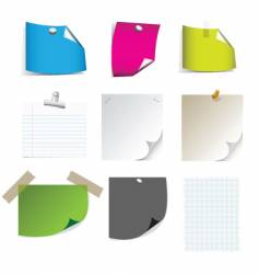 Sticky note pages vector
