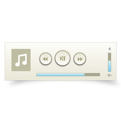Music player 12 vector image