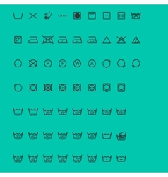 Wash icons vector