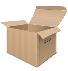 Empty carton box vector