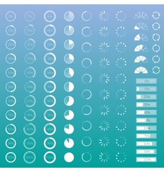 Progress bar set vector image