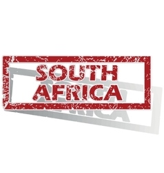 South africa outlined stamp vector