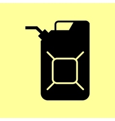 Jerrycan oil sign vector