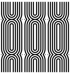 Design seamless monochrome lines pattern vector