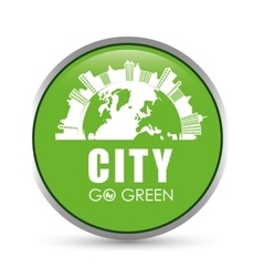 Eco city design vector image