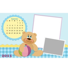 Babys monthly calendar for 2011 vector
