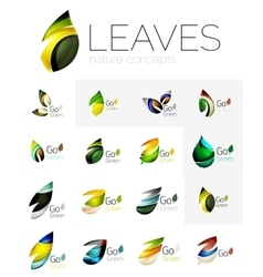 Colorful abstract geometric design leaves icon vector