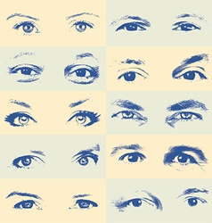 Human eyes set vector