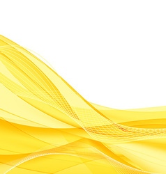 Abstract yellow waves - data stream concept vector