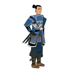 animation warrior man samurai to ancient clothes vector image vector image
