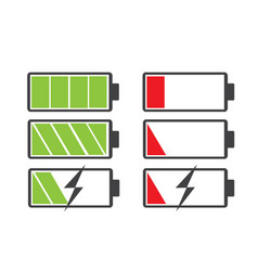 battery icon vector image vector image