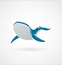Blue whale logo sign emblem isolated vector