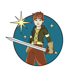 boy with the sword vector image vector image