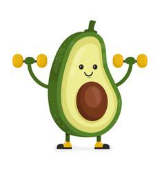 cute happy smiling avocado vector image
