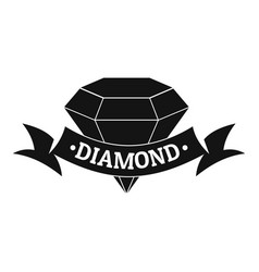 Diamond logo simple black style vector
