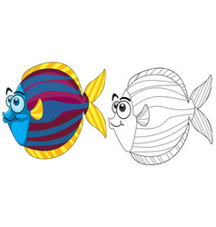 doodle animal for fish vector image vector image