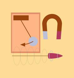 Flat icon on stylish background physics lesson vector