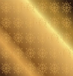 Golden Background Floral Luxury Ornamental vector image
