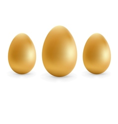 Golden eggs happy Easter EPS8 vector image