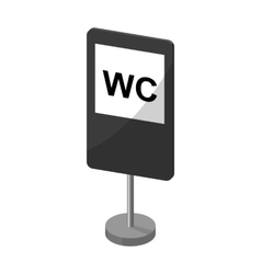 Guide road sign icon in monochrome style isolated vector image