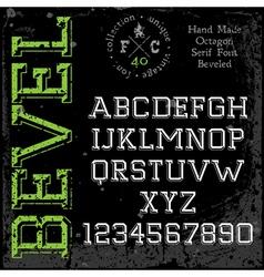 Handmade slab-serif font vector