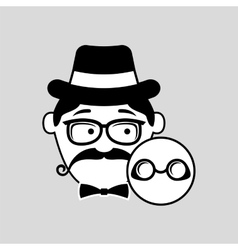 Hipster style round glasses trendy fashion vector